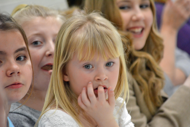 The children enjoying themselves
